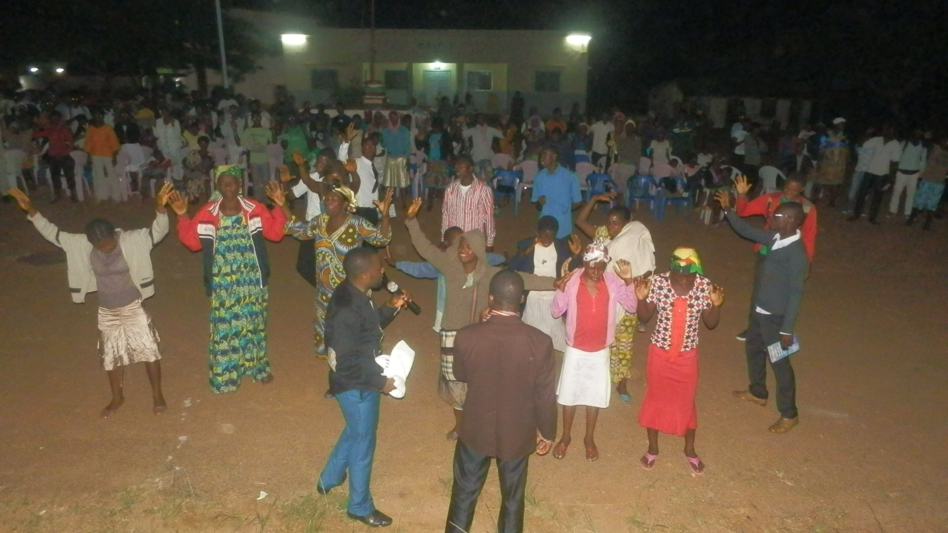 C.Y.J brethren ministering during the crusade